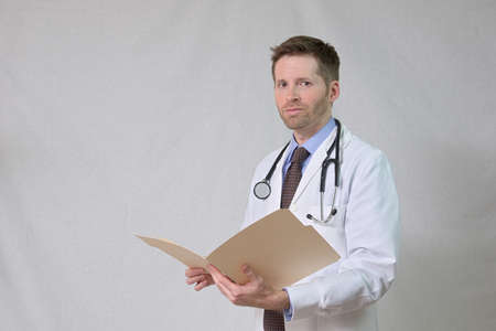 providers: Doctor with Stethoscope and Patient Chart