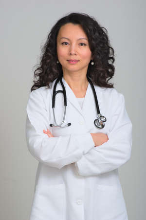 stethoscope: Asian female doctor with stethoscope