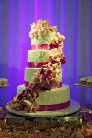 Four tier wedding cake Stock Photo