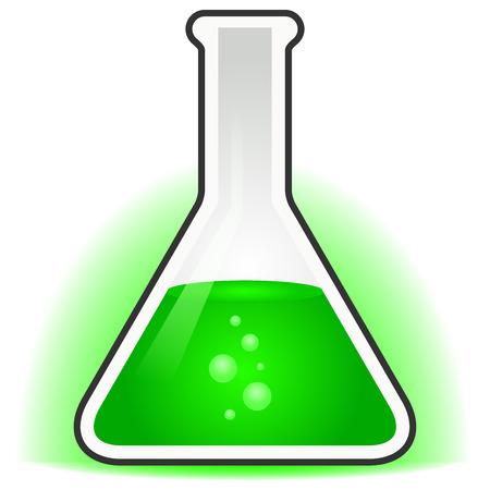 green potion in beaker Ilustração