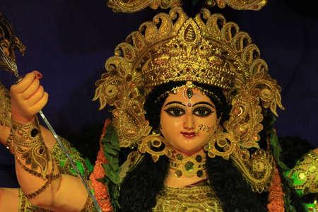 devi: Devi Durga Goddess of power also known as Parbati Stock Photo