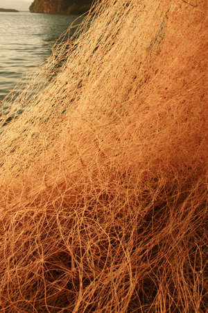 Closeup view of Fishing net  photo