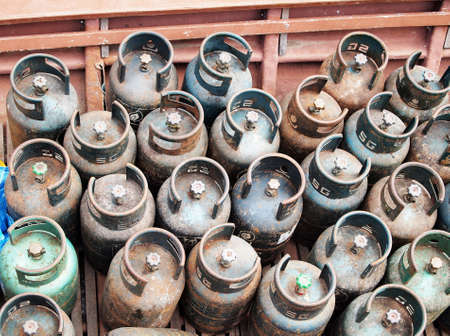 liquefied: Gas cylinder Stock Photo
