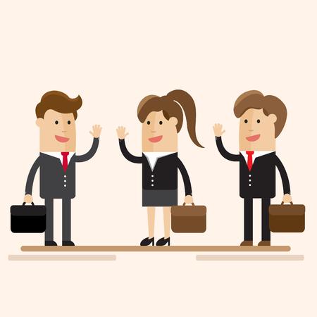 Ilustración de vector de dibujos animados de empresario y de negocios . Foto de archivo - 77342429