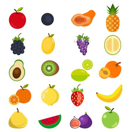 Conjunto de iconos de frutas. Foto de archivo - 80061216