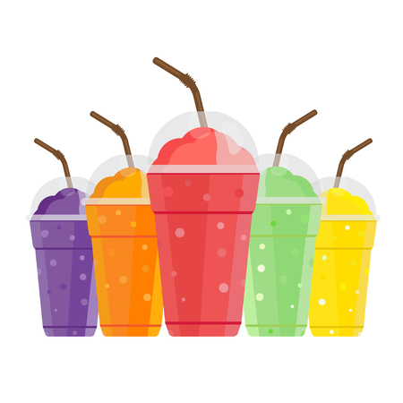 Fruits Smoothie, Shake and Fresh drink menu. Juice for healthy life vector.