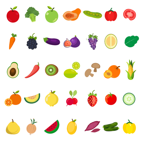 Vegetables and Fruits icon. Illustration