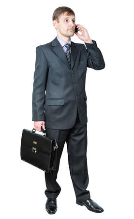 respectable: respectable business man talks on the phone