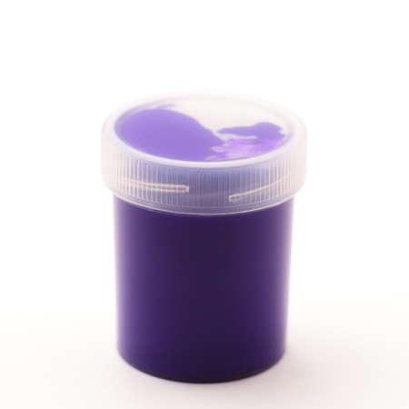 gouache: Purple Gouache colors Stock Photo