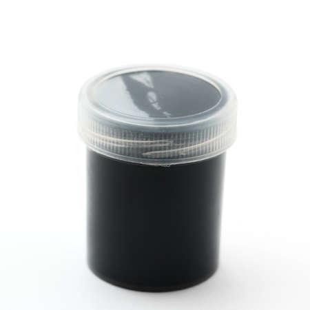 gouache: Black gouache paints Stock Photo