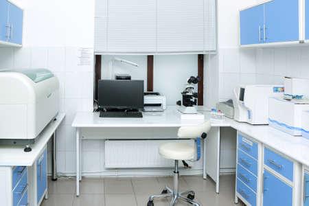 medical laboratory: medical laboratory equipment for analysis