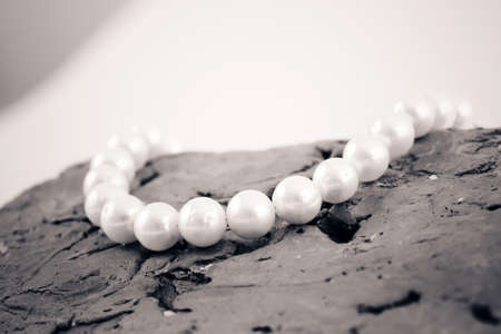pearl necklace: Necklace with pearl jewel