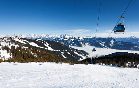 cableway: Cable car going to Schmitten ski resort in Zell Am See, Austria