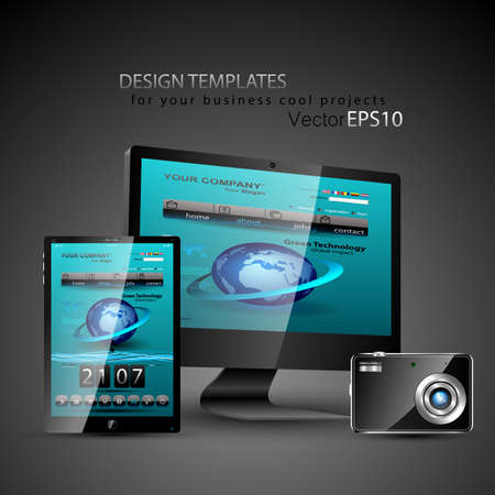 Modern devices design templates for your cool business projects. Vector