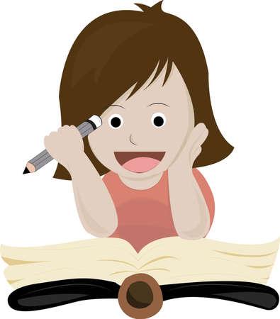 read book Stock Vector - 21269916