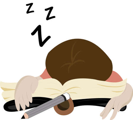 educated: I  m sleep  Illustration