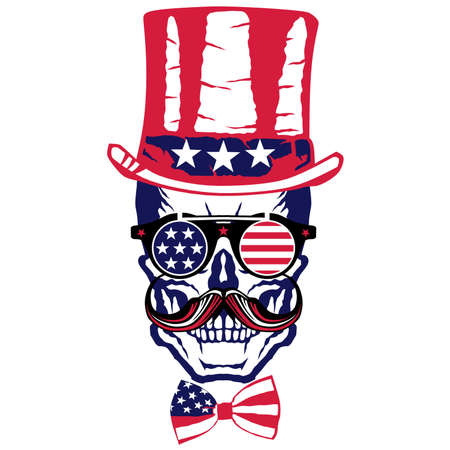 crane hat american hipster mustache round sunglasses and bowtie