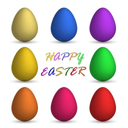 Easter eggs colorful Easter Festival.