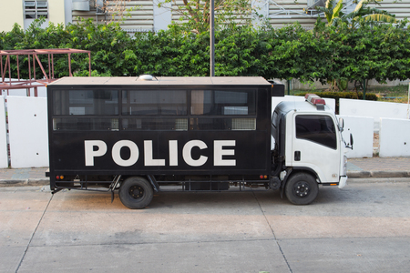 Thailand police car, Police vehicle for transporting prisoners