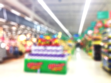 selected: Abstract blur supermarket and retail store in shopping mall interior for background. Stock Photo
