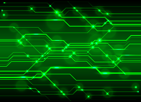 Technology green circuit abstract