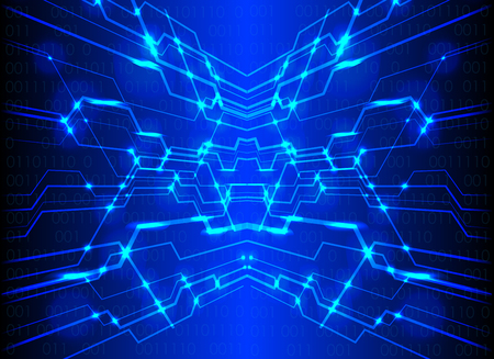 dark blue color Light abstract circuit technology background ,abstract technology concept background, vector illustration. Illustration