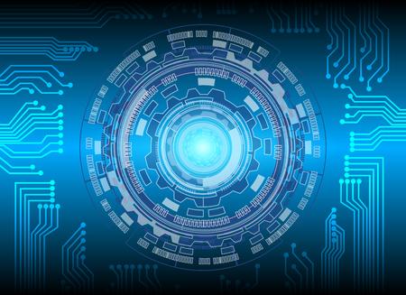 サークルと回路の技術背景、抽象的な技術コンセプトの背景、ベクトル イラスト。  イラスト・ベクター素材