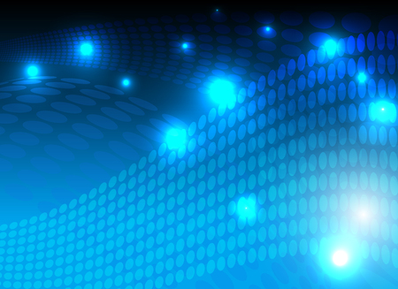 Disco line night party blue lights background. Illustration