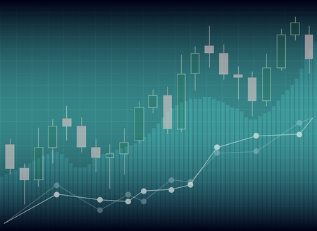 Candle stick graph chart of stock market investment trading, Stock exchange concept.