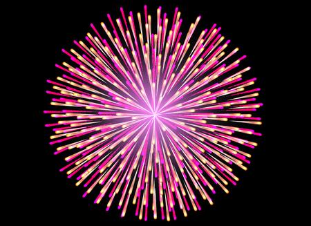 Colorful Fireworks on black background, celebration concept.