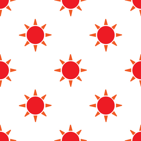 Vector seamless pattern with sun. Surface for wrapping paper, shirts, cloths, Digital paper. Иллюстрация