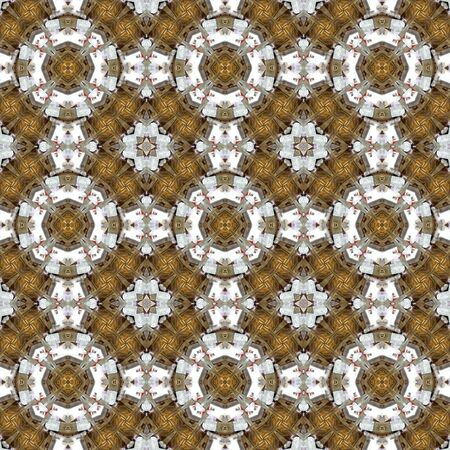 Kaleidoscope seamless patterns abstract background. Magic mandala