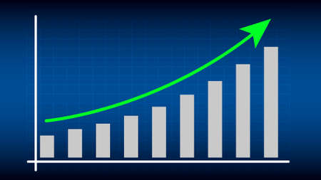 return on investment graph, business growth, investment concept.