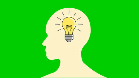 thinking and idea concept with human head