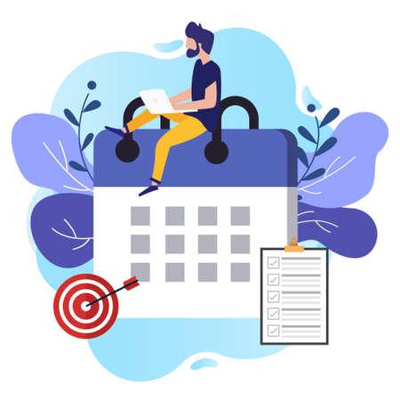 The concept of worker productivity Vektorové ilustrace