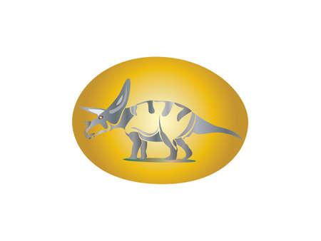 Vector illustration of Dinosaur Character