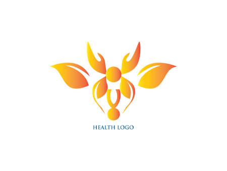 Abstract leaf symbol logo icon design template. May be used in medical and herbal life