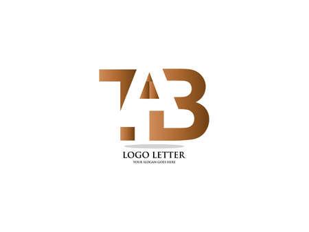 Letter TAB logo vector