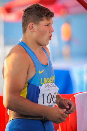 hammer throw: HAVRYLYUK Myhaylo from Ukraine during hammer throw boys competition at the European Athletics Youth Championships  in the Athletics Stadium, Tbilisi, Georgia, 14 July 2016