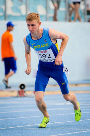 SIRYY Mykola from Ukraine during 800 m Boys run competition at the European Athletics Youth Championships  in the Athletics Stadium, Tbilisi, Georgia, 14 July 2016