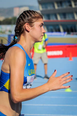 DEREVYANKO Nataliya during 800 m run girls competition at the European Athletics Youth Championships in the Athletics Stadium, Tbilisi, Georgia, 15 July 2016 Editorial