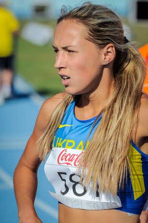 KOVBA Viktoriya during 800 m run girls competition at the European Athletics Youth Championships in the Athletics Stadium, Tbilisi, Georgia, 15 July 2016
