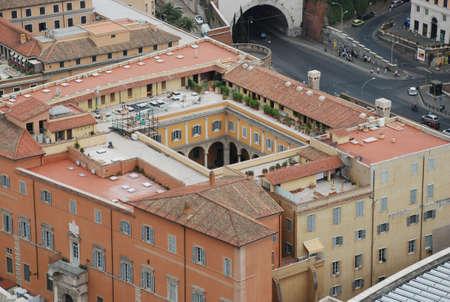 建物と庭バチカン バチカン市国、イタリアの聖ペテロの教皇バシリカの