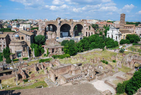 Aerial view of the historic building in Rome, Italy Stock Photo
