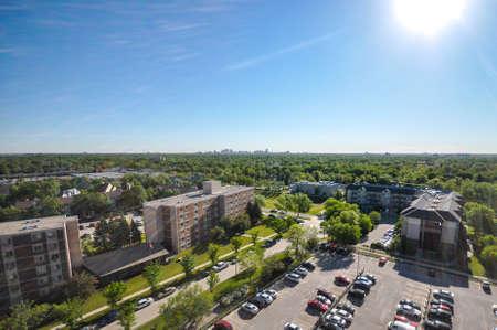 Aerial view at Winnipeg city, Manitoba, Canada