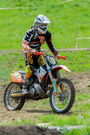 May 15, 2016 - Dnipro City, Ukraine - First stage of Ukrainian enduro country-cross moto championship