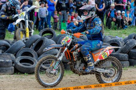 May 15, 2016 - Dnipro City, Ukraine - First stage of Ukrainian enduro country-cross moto championship
