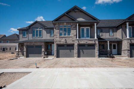 Good View At New Houses In A New District Of The Kitchener City, Ontario, Canada