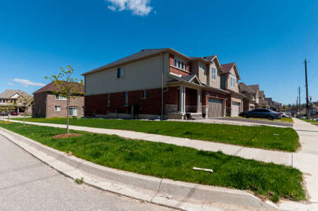 View At New Houses In A New District Of The Kitchener City, Ontario,..  Stock Photo, Picture And Royalty Free Image. Image 81025387.