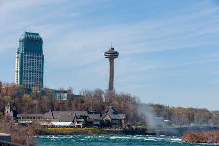 View at centre street at Niagara falls in Canada Editorial